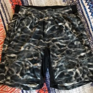 Grey Digital Lululemon shorts